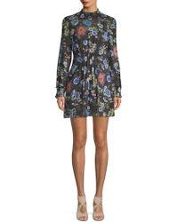 Haute Rogue - Floral-print Long-sleeve Dress - Lyst