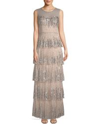 Aidan Mattox - Embellished Tiered Gown - Lyst