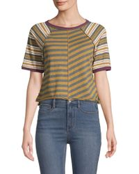 Free People - Prepster Striped Tee - Lyst