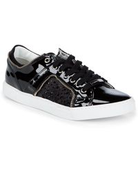 Alessandro Dell'acqua - Glitter Leather Lace-up Sneakers - Lyst