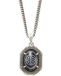 King Baby Studio - Industrial Sterling Silver Chain Pendant Necklace - Lyst