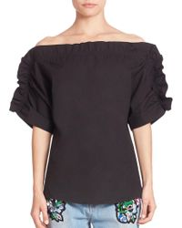 Peserico - Ruffle Off-the-shoulder Top - Lyst