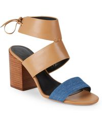 86e81cf1070 Lyst - Rebecca Minkoff Christy Open Toe Synthetic Sandals in Black