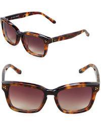 Linda Farrow - 55mm Rectangle Sunglasses - Lyst