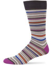 Saks Fifth Avenue - Collection Mercerized Multi Stripe Socks - Lyst