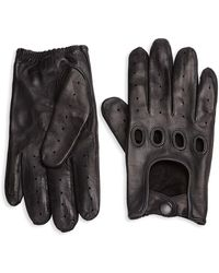 Saks Fifth Avenue - Collection Perforated Leather Driving Gloves - Lyst