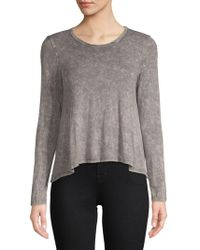 PPLA - Long-sleeve Heathered Top - Lyst