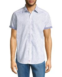 Robert Graham - Cotton Short-sleeve Button-down Shirt - Lyst
