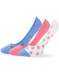 Kate Spade - Three-pack Printed Liner Socks - Lyst