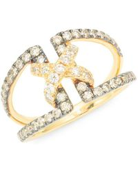 Le Vian - 14k Yellow Gold, Chocolate & Vanilla Diamond Ring - Lyst