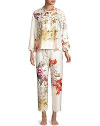 Natori - Nikko Floral 2-piece Pyjama Set - Lyst