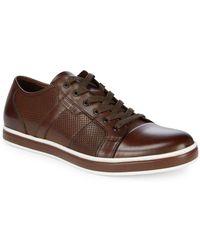 Kenneth Cole - Brandwidth Leather Low-top Sneakers - Lyst