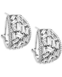 Saks Fifth Avenue - Crystal And Sterling Silver Drop Earrings - Lyst