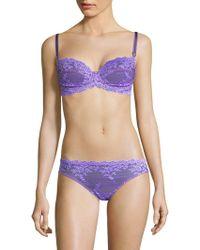 5b0d57b7a0794 Wacoal Embrace Lace Underwire Bra in Blue - Lyst