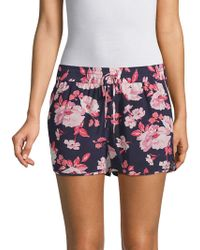 Joie - Layana Floral Silk Shorts - Lyst