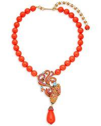 Heidi Daus - Multicolored Crystal Koi Fish Pendant Necklace - Lyst