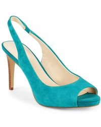 Nine West - Known As Suede Slingback Pumps - Lyst