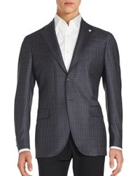 Lubiam - Checked Wool Sportcoat - Lyst