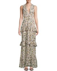 A.L.C. - Brie Silk Floor-length Dress - Lyst