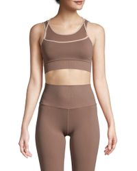 Phat Buddha Scoopneck Sports Bra - Brown