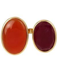 Diane von Furstenberg - Reconstituted Stone Goldplated Ring - Lyst