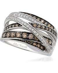 Le Vian - Chocolatier Diamond & 14k White Gold Band Ring - Lyst
