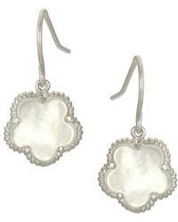 Saks Fifth Avenue - Jankuo Mother-of-pearl Clover Drop Earrings - Lyst