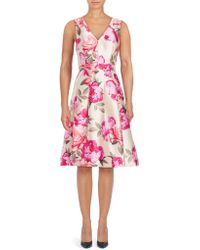 Eliza J - Floral-printed Sleeveless Dress - Lyst