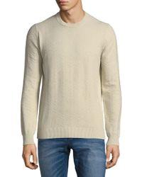 Ben Sherman - Chevron Cotton Sweater - Lyst