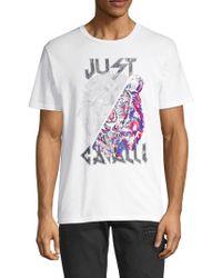 Just Cavalli - Graphic Short-sleeve Cotton Tee - Lyst