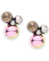 Diane von Furstenberg - Rainbow Rocks Crystal Stud Earrings - Lyst