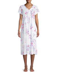 Carole Hochman Long Floral Nightgown - White