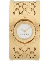Gucci - Twirl Stainless Steel Ssima Bangle Analog Watch - Lyst