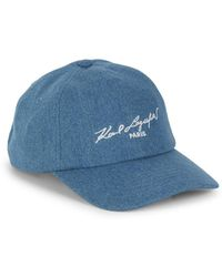 0c2ab5009b9 Lyst - Karl Lagerfeld Leopard Calf Hair   Shearling Baseball Cap