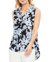 Vince Camuto - Amalfi Breeze Exotic Floral-print Blouse - Lyst