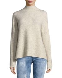 French Connection - Textured Mockneck Sweater - Lyst