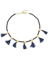 Elise M - Glass And Fabric Choker - Lyst
