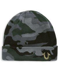 True Religion - Camouflage Cotton Watch Cap - Lyst