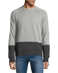 BOSS - Colorblock Cotton Sweater - Lyst