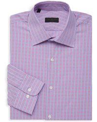 Ike By Ike Behar - Checkered Long-sleeve Dress Shirt - Lyst