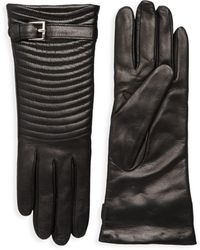 Portolano - Quilted Leather Gloves - Lyst