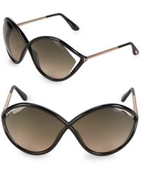 Tom Ford - 70mm Oversized Sunglasses - Lyst