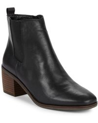 Lucky Brand - Mekinly Leather Booties - Lyst