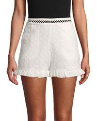 Endless Rose - Eyelet Cotton Shorts - Lyst