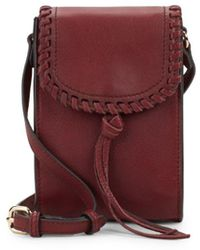 Vince Camuto - Flap Leather Phone Case - Lyst