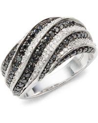 Effy - Diamond & 18k White Gold Studded Ring - Lyst