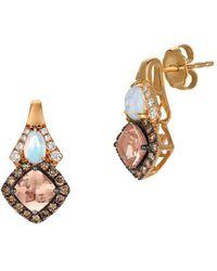 Le Vian - Chocolatier Neopolitan Opal & Peach Morganite Drop Earrings - Lyst