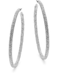 Adriana Orsini - Cubic Zirconia Hoop Earrings - Lyst
