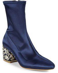 Badgley Mischka - Martine Rhinestone Block Heel Boots - Lyst