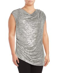 CALVIN KLEIN 205W39NYC - Cowlneck Sleeveless Asymmetric Top - Lyst